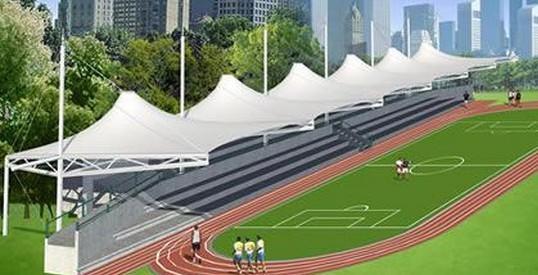 体育看台膜结构的设计步骤