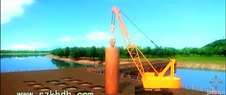 广州大桥施工动画-桥梁施工工艺视频