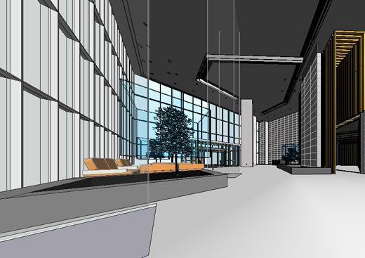 最近用revit完成的唐山办公楼室内设计项目