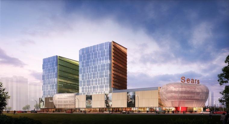 赫斯科设计的上海禹洲茜尔斯购物中心