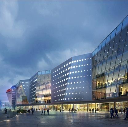由赫斯科设计的长春宽城万达商业广场正式开业