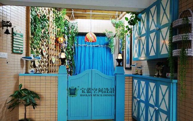 [宝蓝软装飞雪]怡景花园-130地中海风格-三室两厅两卫
