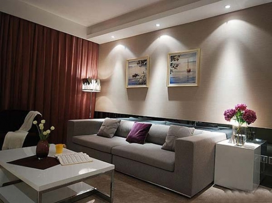 简单也是美!98平米2室1厅装修实例