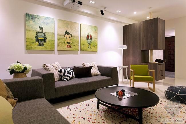 台湾130平米住宅室内设计 配饰充满童趣