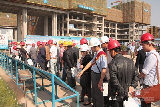 中建三局承办杨凌区首届建筑施工现场观摩会