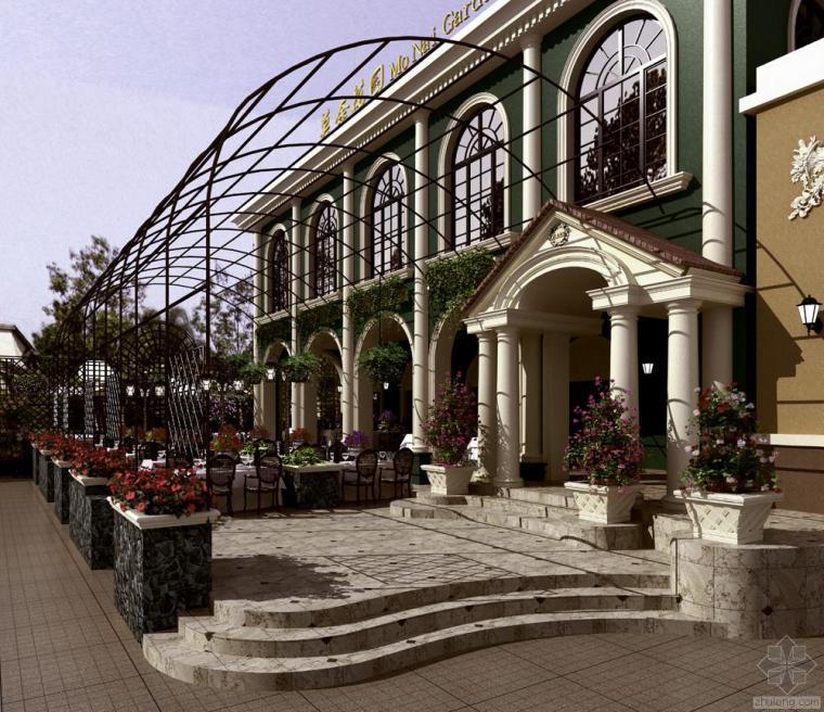 无域空间设计|| 莫奈花园餐厅欧美式混搭风格设计作品赏