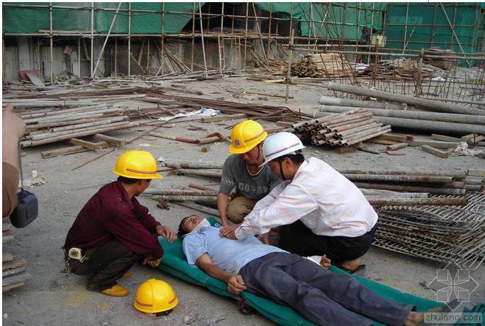 建筑工地物体打击应急预案演练带图片