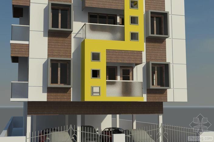 [筑龙教育 案例分享]住宅Revit模型下载