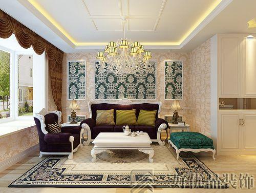 欧式风格强调以华丽的装饰浓烈的色彩搭配达到雍容华贵的装饰效果