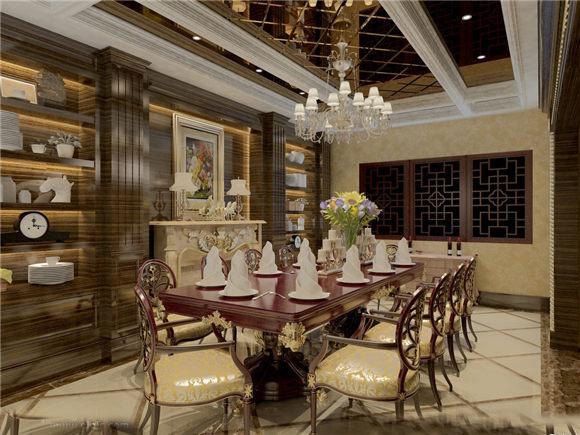 奢华西式餐厅包间效果图欣赏