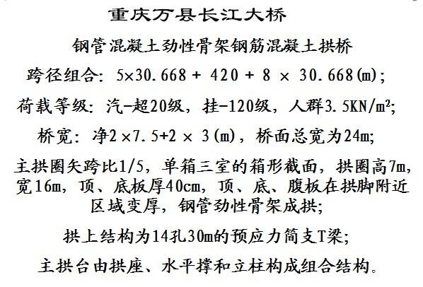混凝土方格骨架护坡图资料下载-重庆万县长江大桥劲性骨架施工(附大量图片)