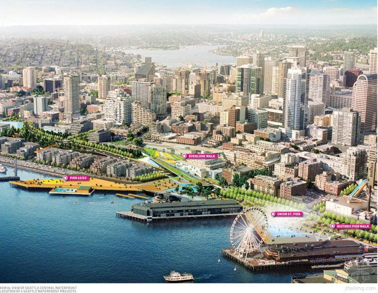 [ASLA]规划设计类荣誉奖(二)--Waterfront Seattle 西雅图海滨