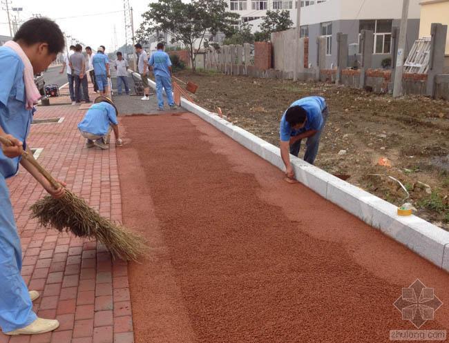 彩色透水混凝土的施工前准备