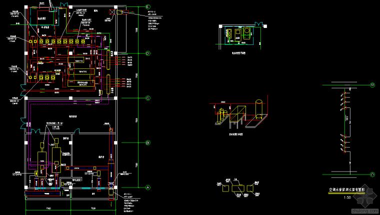 冷、热水机房竣工图