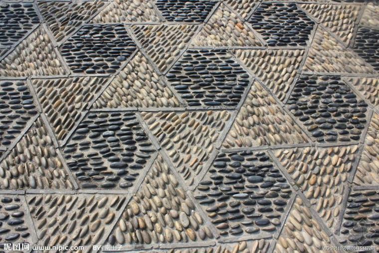 花街铺地轮廓用的砖瓦规格