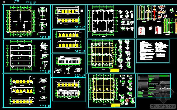厂房设计施工图,结构图