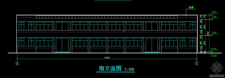 二层框架厂房设计图