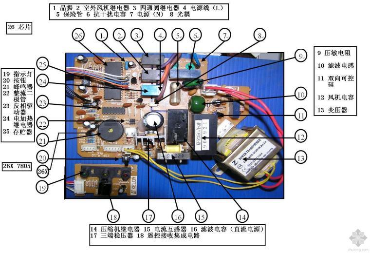 家用空调器电路板零部件识别图