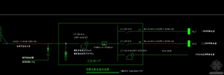 别墅电气系统图