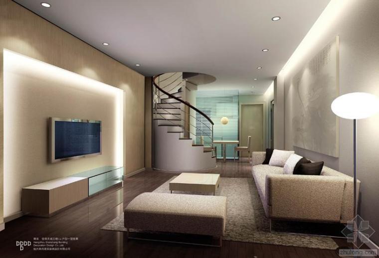 单身公寓施工图加效果图方案