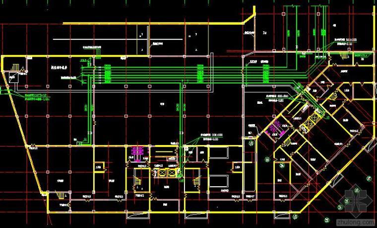 青岛银鹰大厦写字楼空调设计施工套图