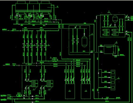 地下一层空调制冷换热机房管线流程图.jpg