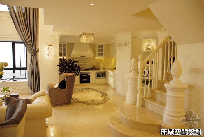 杰特公寓复式楼欧美混搭风格样板房设计案例赏析