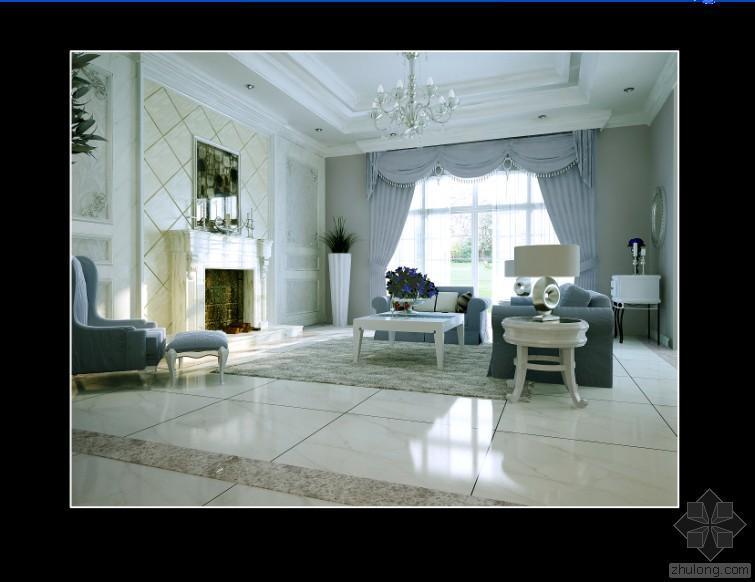 欧式别墅施工图附效果图及完工照片