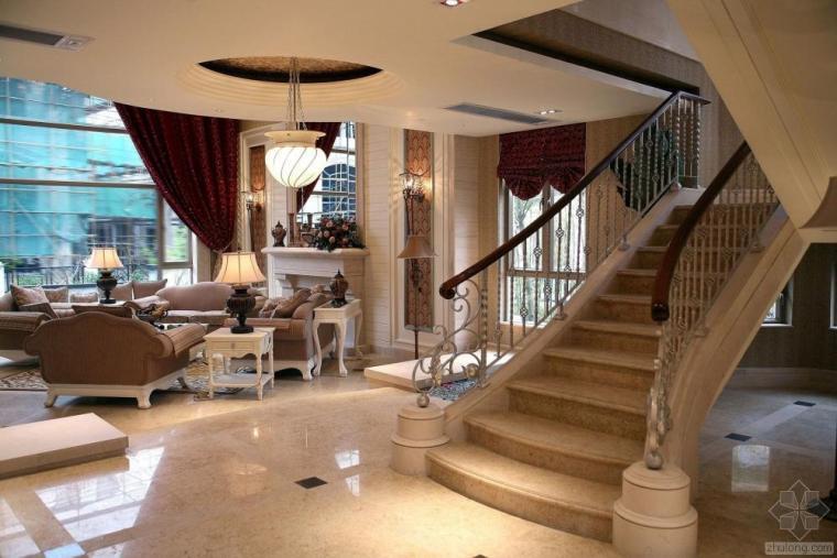 美式古典别墅设计施工图附实景照片