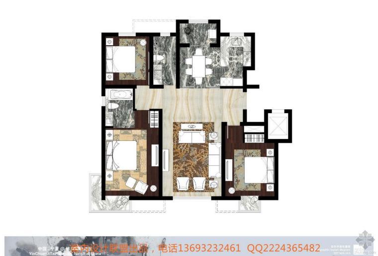 银川吉泰润园样板房室内设计方案