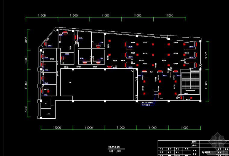 [分享]餐厅中央空调cad平面图资料下载图片