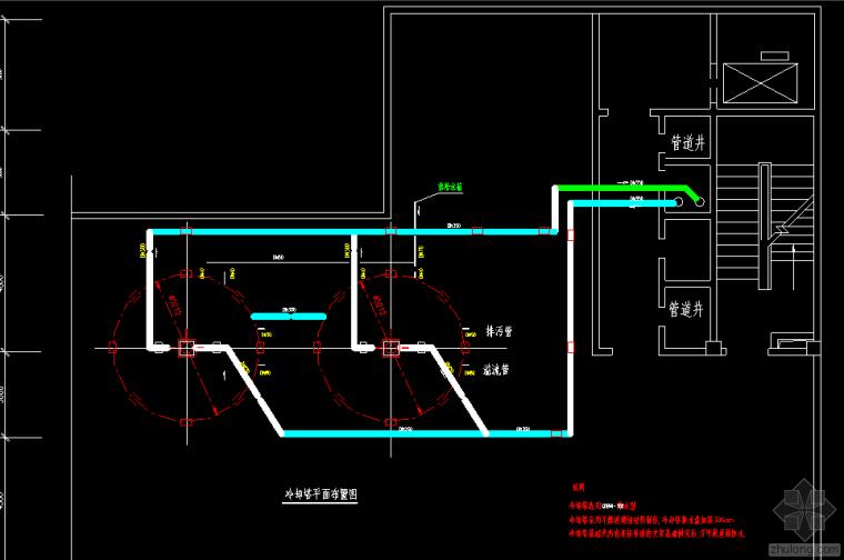 医院空调主机房施工图