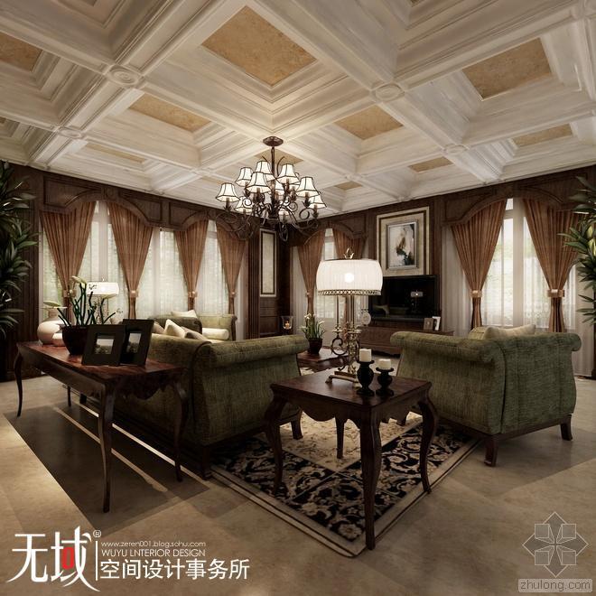 [无域空间设计]北京市昌平区某私人500平独栋别墅欧式设计风格