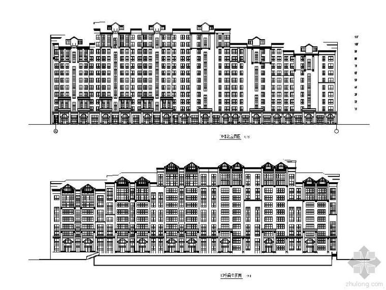 欧式风格十一层住宅楼施工图