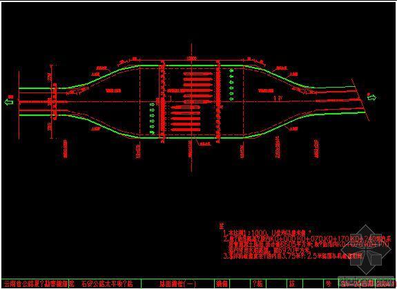 昆明碧鸡收费站工程cad图和各种计算表免费下载