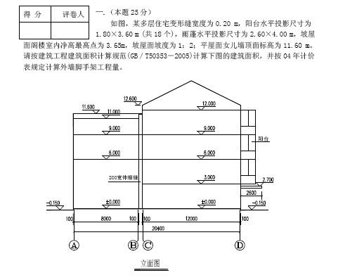 江苏2007-2009-2010造价员试题合集