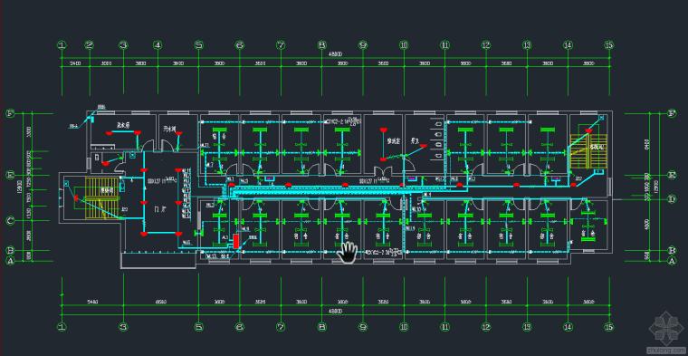 宿舍电气平面图