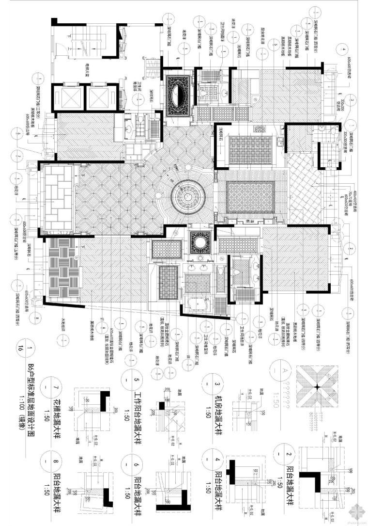 星河湾B6复式施工图
