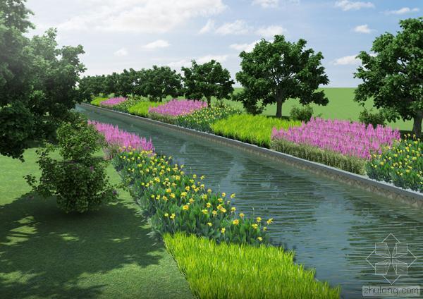 洪泥河生态河道护坡工程施工组织设计