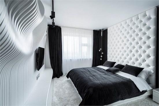 参数化设计下的黑白卧室