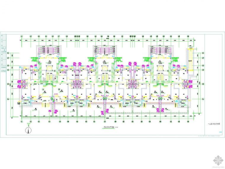 江苏6层住宅给排水图纸-太阳能热水