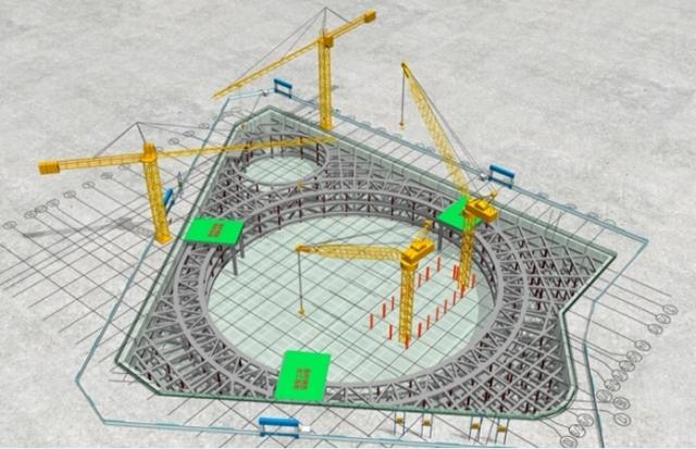 天津地标建筑钢结构安装流程图