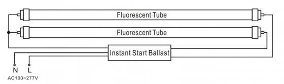 三能照明单针LED灯管更换接线说明图