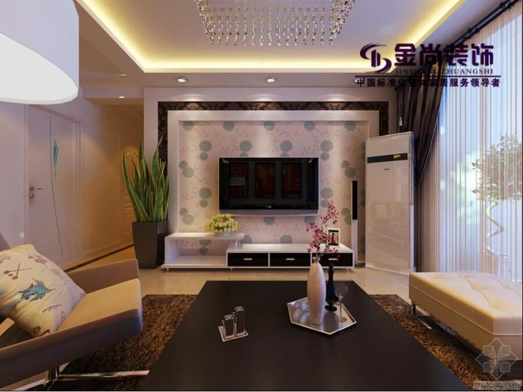 中海紫御东郡现代简约家庭装修设计效果