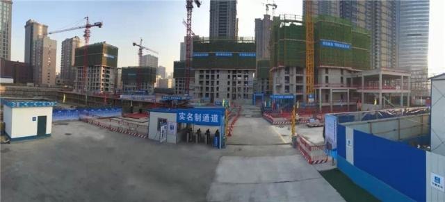 中建五局沈阳保利大都会项目标准化管理照片