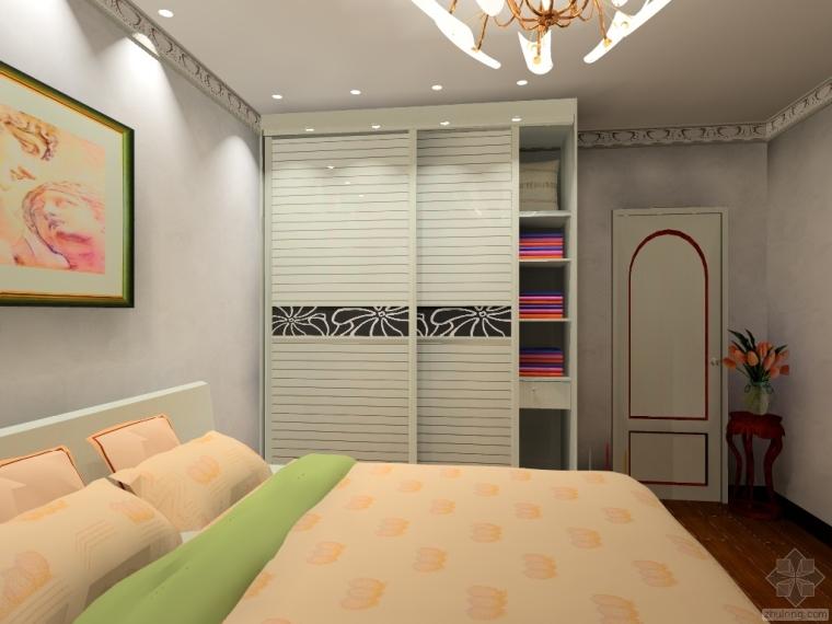 主卧室衣柜装修设计图,喜欢吗