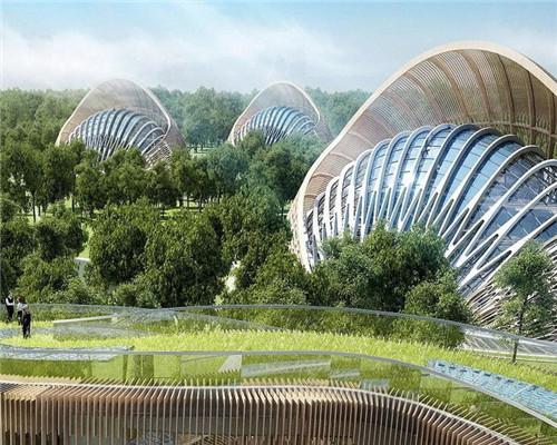 天下奇观:奇异的未来节能环保城 犹如空中花园