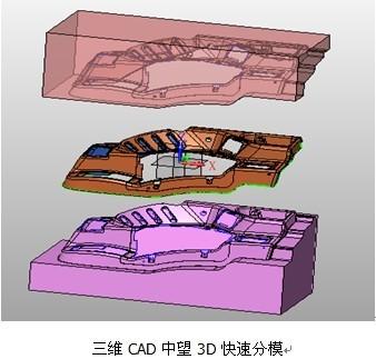 三维CAD模具设计师实操技巧:中望3D如何快速分模