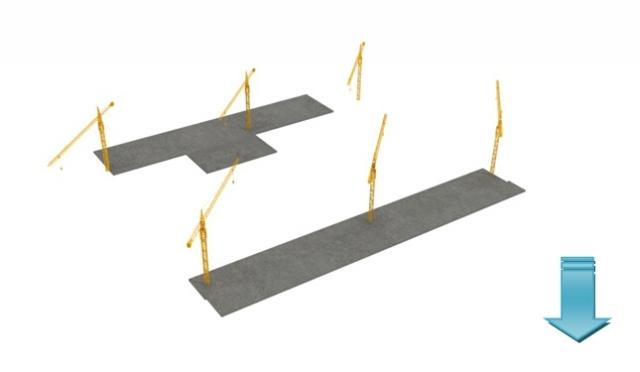 电子厂房建造各阶段流程图(三维高清)
