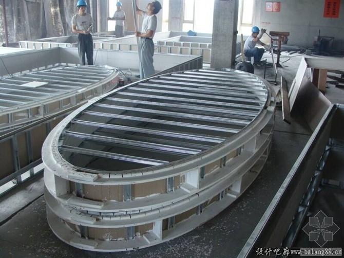 各式各样吊顶造型施工的现场照片--施工工艺